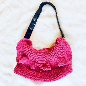 Pink Knit Murval Bag